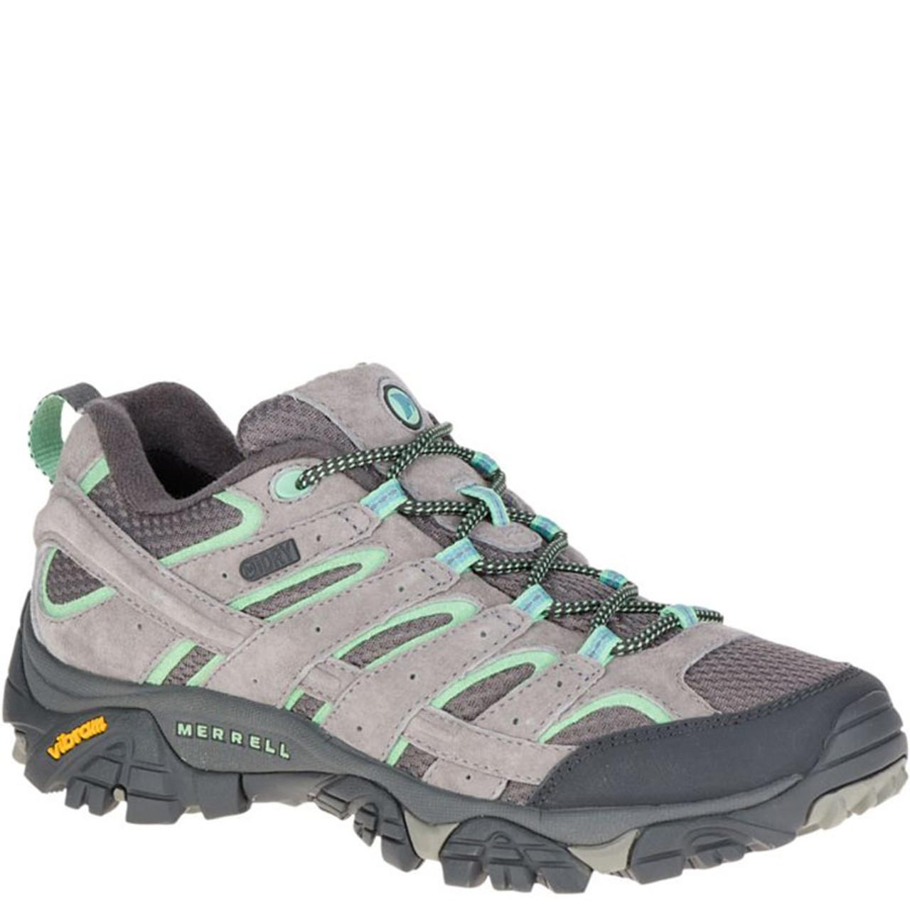 9c09235be7 Merrell J06028 Women's MOAB 2 Waterproof Hiking Shoes Drizzle Mint