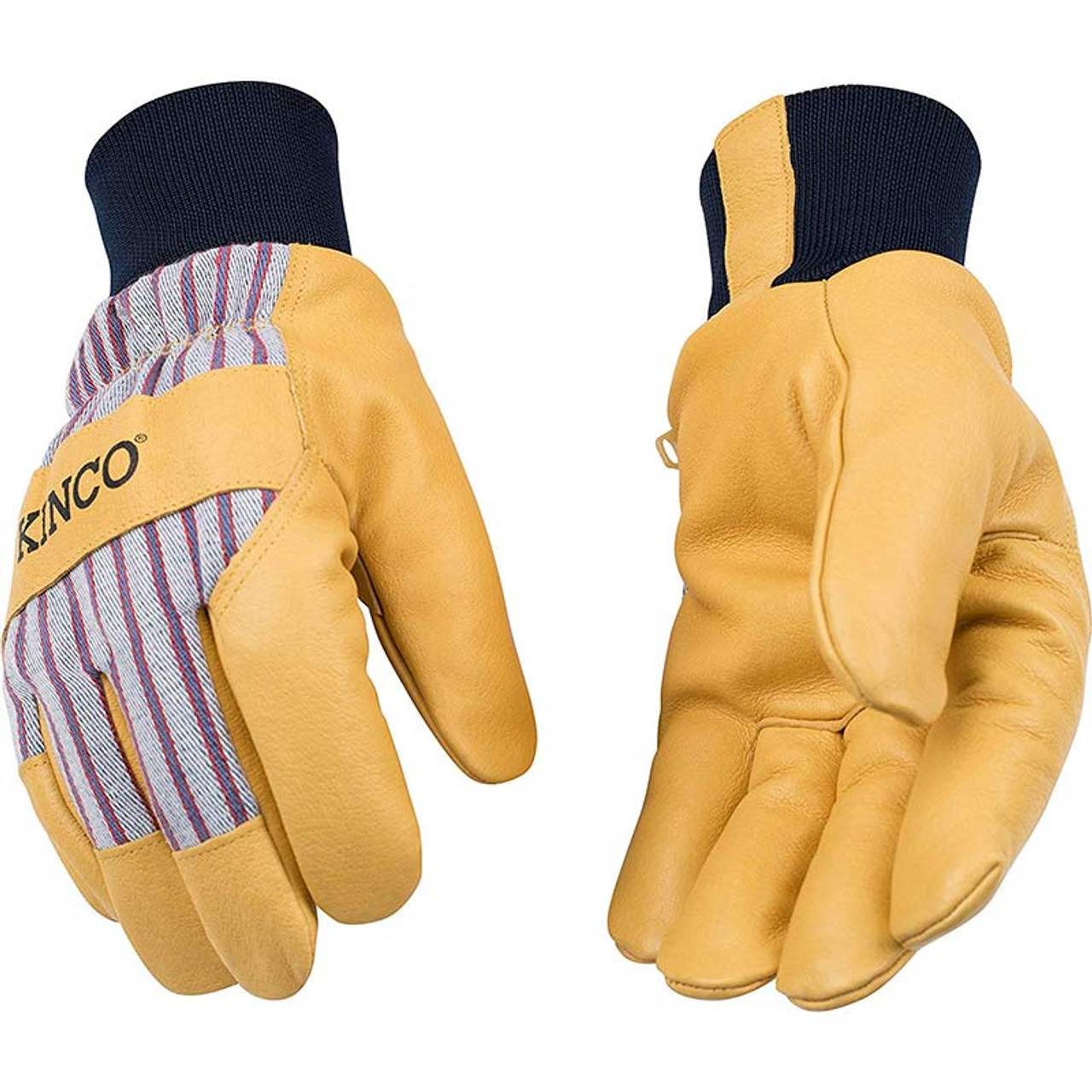 Kinco 90HK Mens LINED DEERSKIN Leather Driver Work Gloves Cold Winter