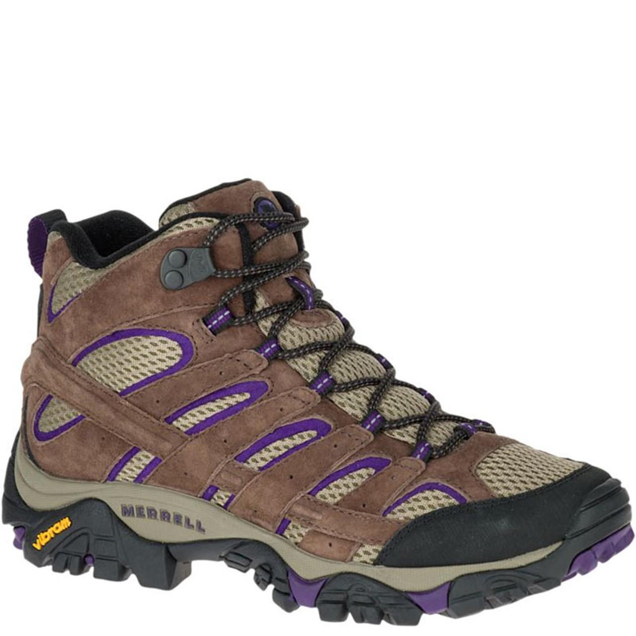 dc45e9ae Merrell J06050 Women's MOAB 2 VENTILATOR Mid Hiking Boots Bracken Purple