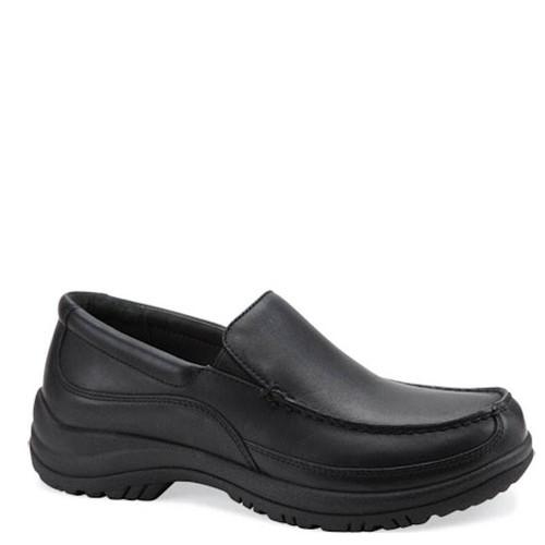 Dansko WAYNE Black Leather Slip-On Shoes