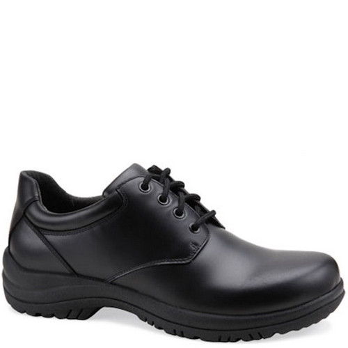 Dansko Men's WALKER Smooth Black Leather Oxfords