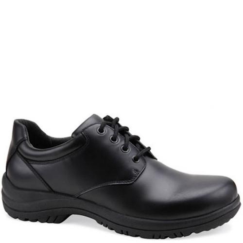Dansko Men's WALKER Smooth Black Leather Oxfords