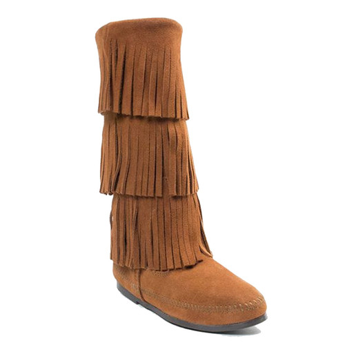 Minnetonka 1632 3 LAYER FRINGE Brown Boots