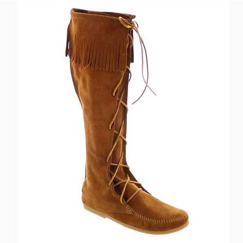 Minnetonka Men's Knee High Lace Boots Brown-525