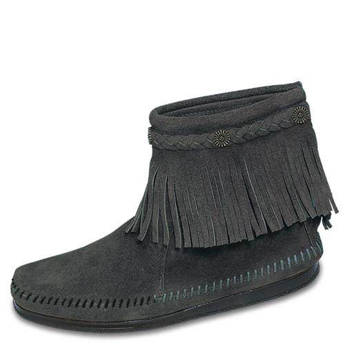 Minnetonka Boots Hi Top Back Zip Boot Grey
