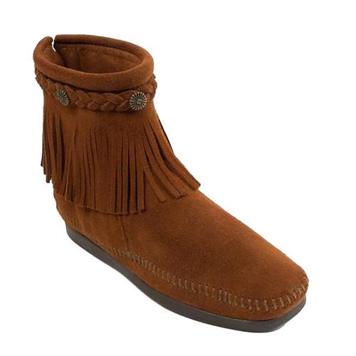 Minnetonka 292 High Top Back-Zip Brown Boots
