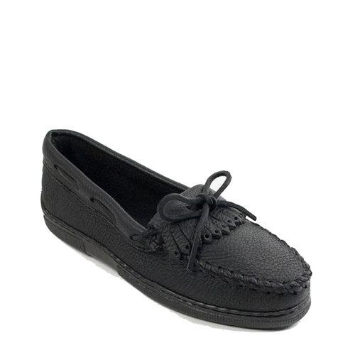 Minnetonka 399 MOOSEHIDE KILTY Black Loafers