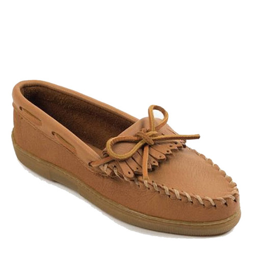 Minnetonka 390 MOOSEHIDE KILTY Tan Loafers