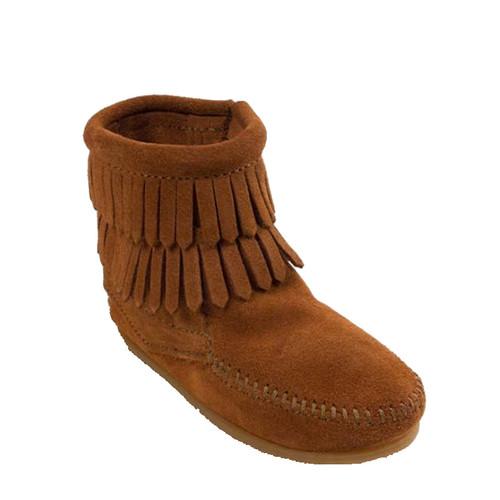 Minnetonka 2992 Kids' DOUBLE FRINGE SIDE-ZIP Boots