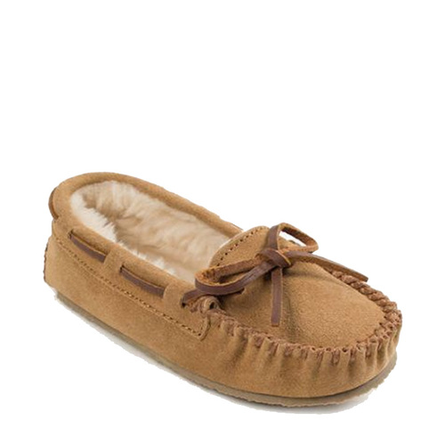 Minnetonka 4811 KIDS' CASSIE Tan Moccasin Slippers