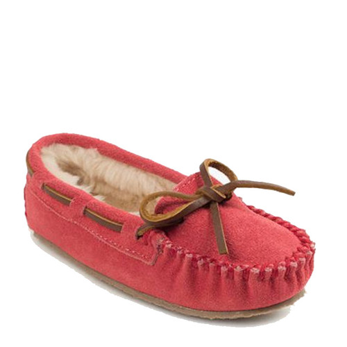 Minnetonka 4815 Kids' CASSIE Hot Pink Moccasin Slippers