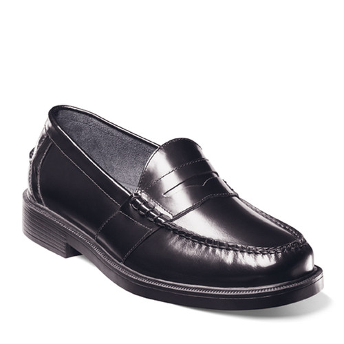 Nunn Bush 85538-01 LINCOLN Black Penny Loafers
