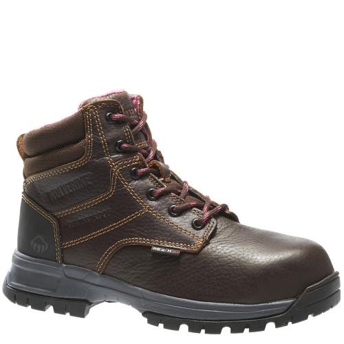 Wolverine W10180 DURASHOCKS PIPER Women's Composite Toe Security Friendly Brown Work Boots