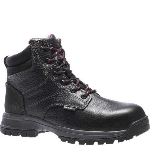 Wolverine W10181 DURASHOCKS PIPER Women's Composite Toe Security Friendly Black Work Boots