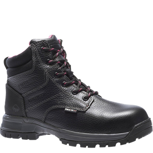 Wolverine W10181 DURASHOCKS PIPER Women's Composite Toe Security Friendly Black Work Boots