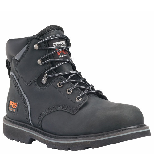 "Timberland PRO 33032001 PIT BOSS 6"" Black Steel Toe Work Boots"