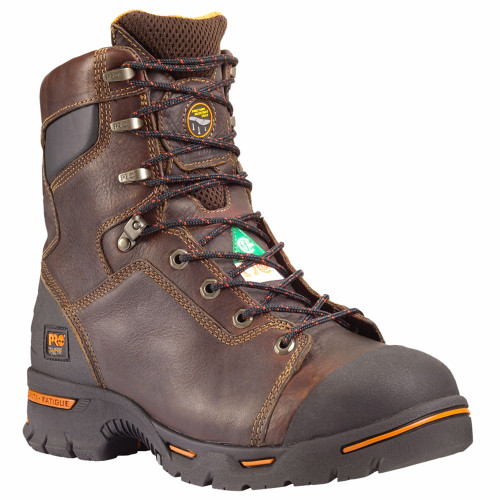 "Timberland PRO 52561 ENDURANCE 8"" Brown Steel Toe Puncture Resistant Work Boots"