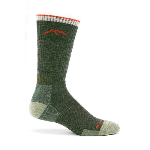 Darn Tough USA Made Olive Cushioned Boot Socks