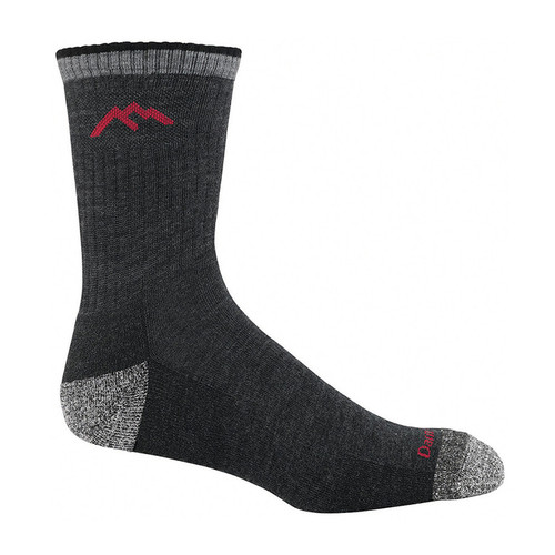 Darn Tough USA Made Black Micro Crew Cushion Socks