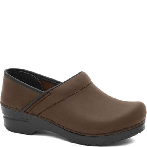 Dansko ANTIQUE BROWN OILED LEATHER Professional Clogs