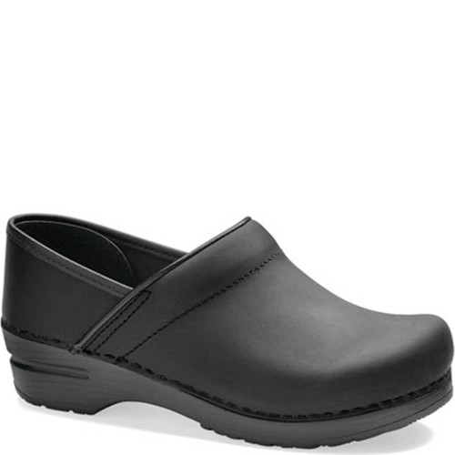 Dansko BLACK OILED LEATHER Professional Clogs