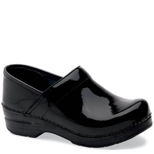 Dansko BLACK PATENT LEATHER Professional Clogs