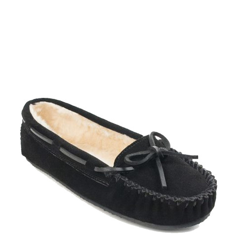 Minnetonka 4010 CALLY Black Moccasin Slippers