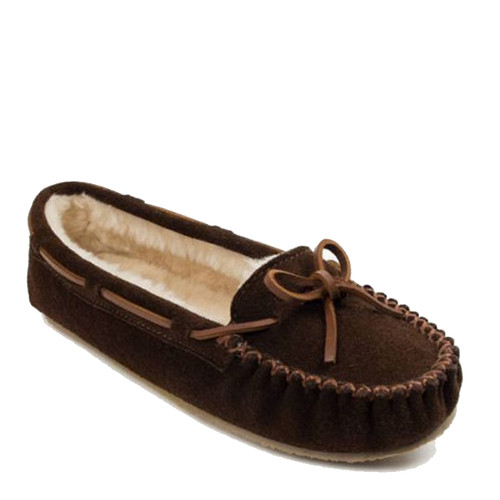 Minnetonka 4012 CALLY Brown Moccasin Slippers