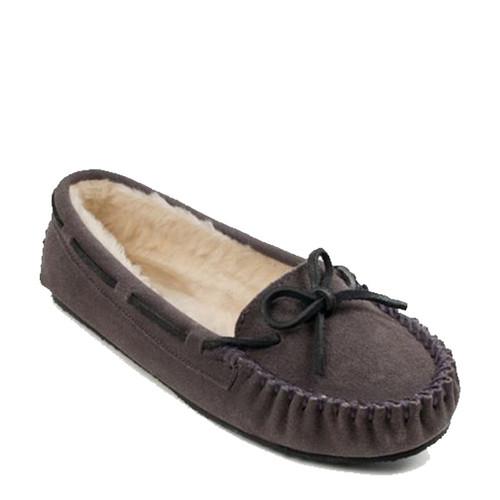 Minnetonka 4015 CALLY Gray Moccasin Slippers