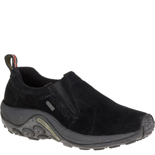 Merrell J60826 Women's JUNGLE MOC Slip-On Shoes Black Suede