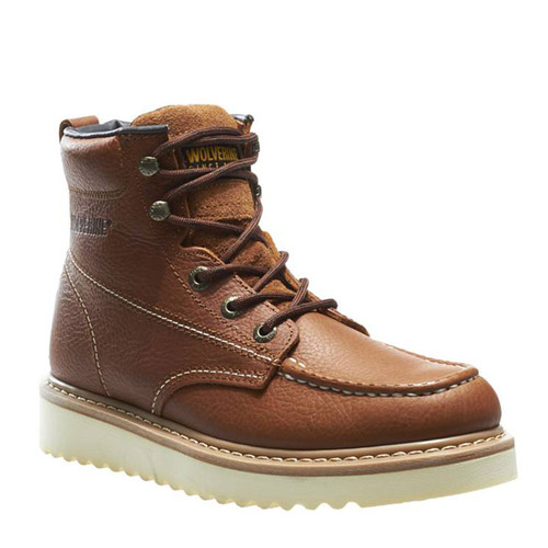 Wolverine W08288 MOC-TOE Wedge Soft Toe Non-Insulated Unlined Work Boots