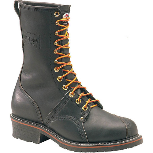 "Carolina 1905 USA UNION MADE 10"" LINEMAN BOOTS Black Oil Tan Steel Toe"