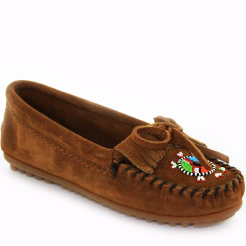 Minnetonka 403J ME-TO-WE Brown Suede Moccasins