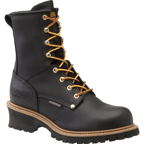 Carolina CA9823 ELM Steel Toe Non-Insulated Black Logger Boots