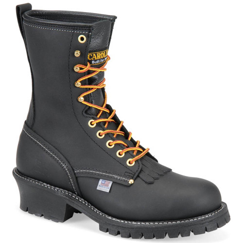 Carolina 1922 USA UNION MADE MAPLE Steel Toe Non-Insulated Black Logger Boots