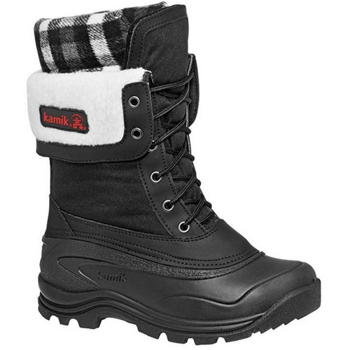 Kamik NK2074 SUGARLOAF Black Winter Boots