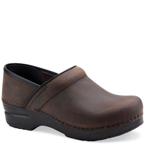 Dansko Men's BROWN OILED Professional Clogs