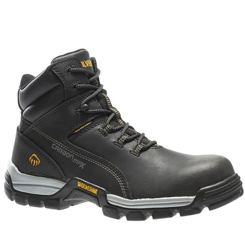 Wolverine W10304 TARMAC CarbonMAX Composite Toe Non-Insulated Security Friendly Black Work Boots
