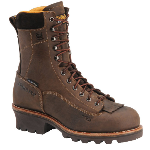 Carolina CA7522 BIRCH Composite Toe Lace-to-Toe Logger Boots