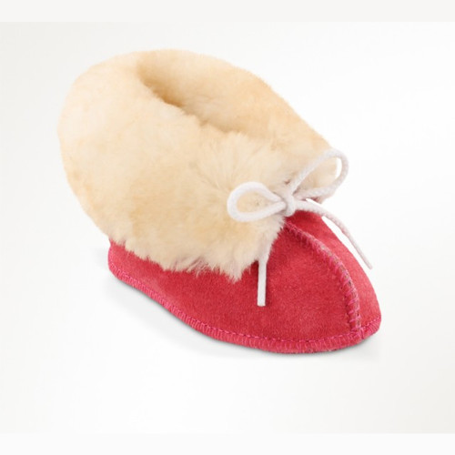 Minnetonka Infant Toddler Sheepskin Bootie Pink