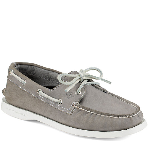 perry STS94328 Women's AUTHENTIC ORIGINAL 2-Eye Gray Boat Shoes