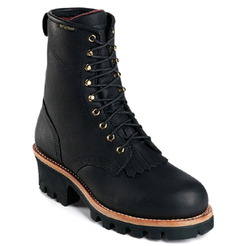 Chippewa 73020 BALDOR Steel Toe Non-Insulated Black Logger Boots