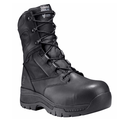 "Timberland PRO 1165A001 Men's VALOR 8"" POLICE DUTY BOOTS Composite Toe Side Zip"