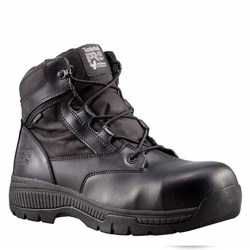 "Timberland PRO 1161A Men's VALOR 6"" POLICE DUTY BOOTS Composite Toe Side Zip Security Friendly"