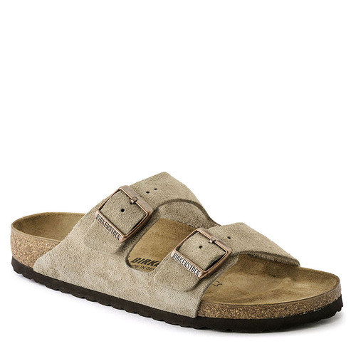 Birkenstock Men's ARIZONA Taupe Suede Sandals