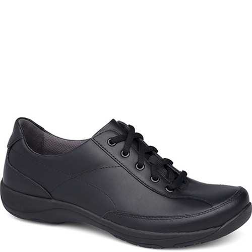 Dansko EMMA Black Leather Slip Resistant Work Shoes