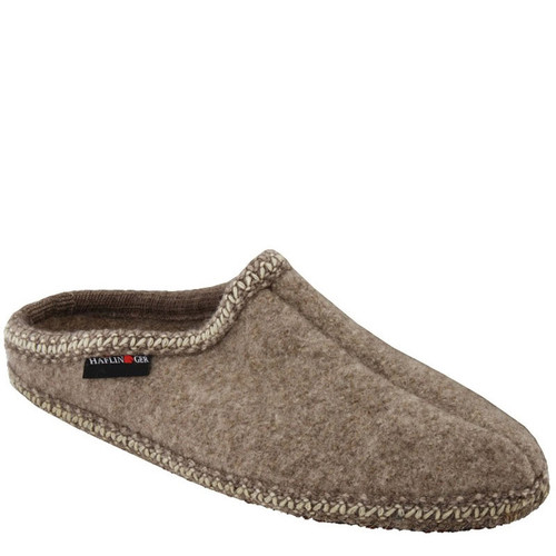 Haflinger AS-26 Women's Boiled Wool Soft Sole Slippers Natural