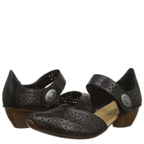 Rieker 43711 MIRJAM 11 Black Mary Jane Shoes