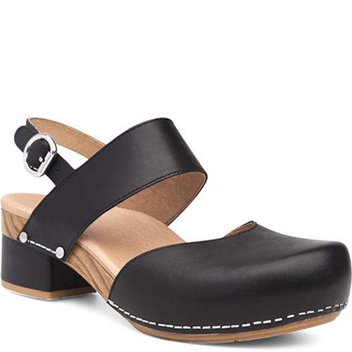 Dansko MALIN Black Leather Sandals