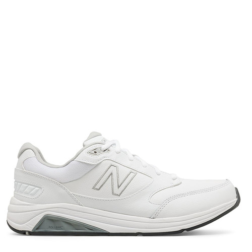 New Balance 928v3 Men's White Leather Walking Sneakers